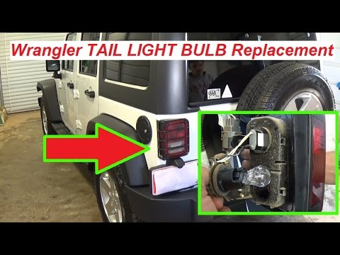 Jeep Wrangler JK Tail Light Bulb Replacement  Brake Light Bulb  Turn Signal Light Bulb
