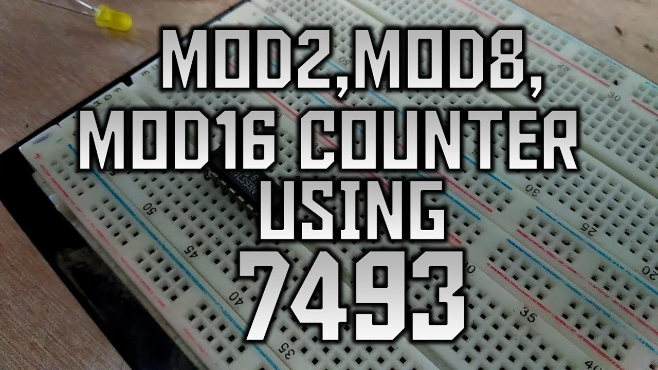 logic diagram 7493 mod 2  mod 8   mod 16 counter using 7493 youtube  mod 8   mod 16 counter using 7493