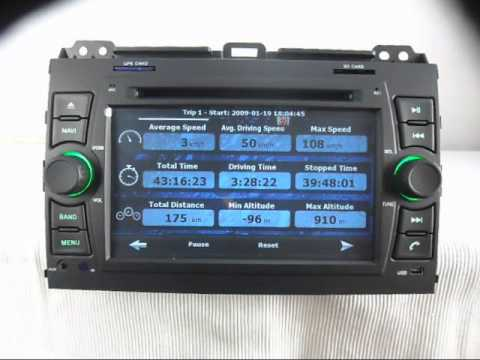 Toyota Land Cruiser Prado DVD Player GPS Navigation TV Bluetooth