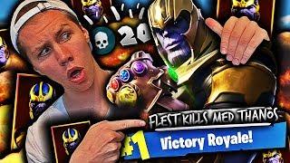 MITT HØYESTE ELIMINITION GAME MED THANOS!! 🤯💥 20 KILLS PÅ ET GAME I FORTNITE!!