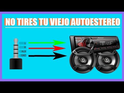 Como conectar una entrada auxiliar a un auto estereo casero reciclado youtube - Instalar puerto usb en coche ...