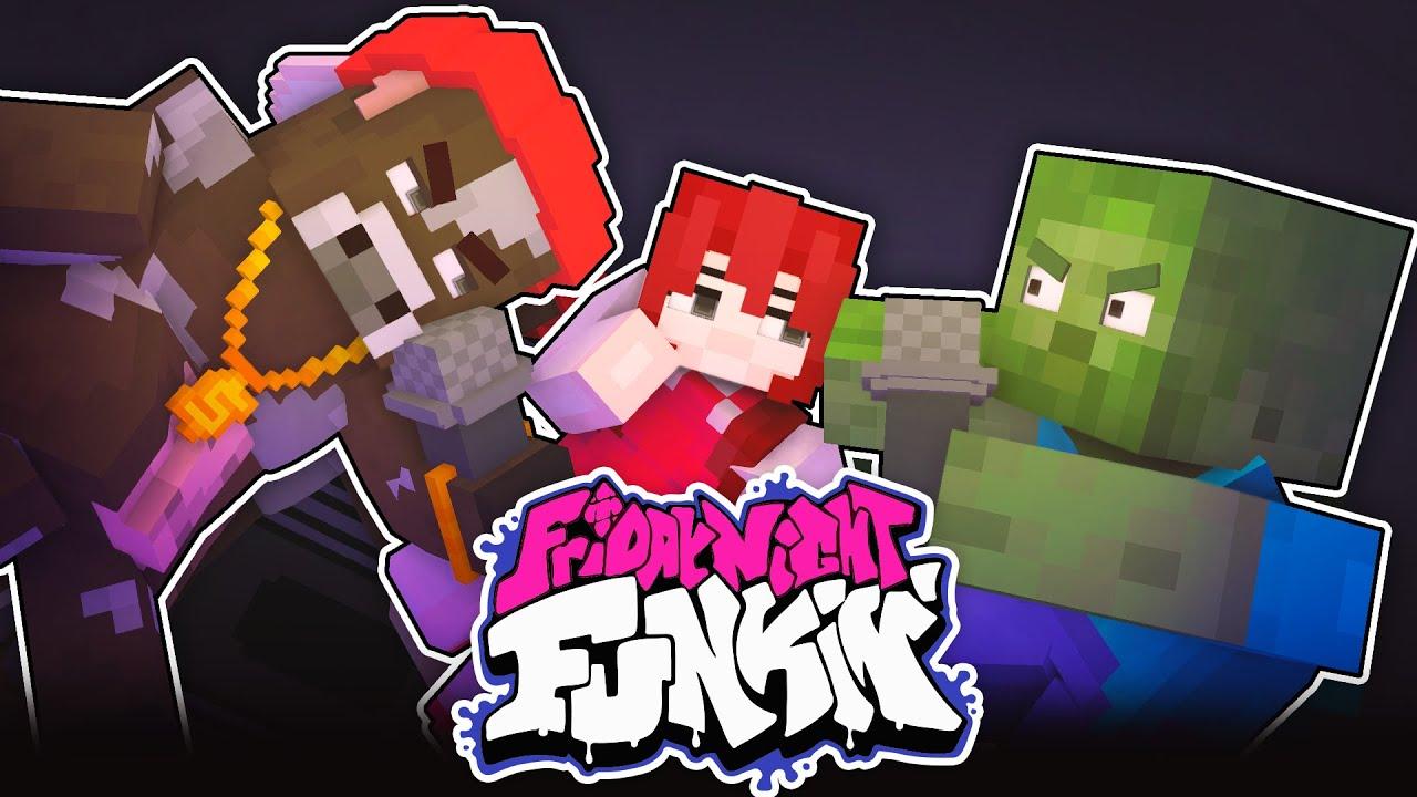 Monster School : FRIDAY NIGHT FUNKIN CHALLENGE - Minecraft Animation