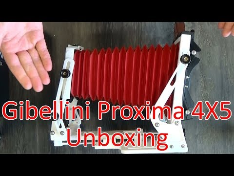 Gibellini Projects Proxima 45 3-D Printed 4X5 Field Camera Unboxing and Demonstration