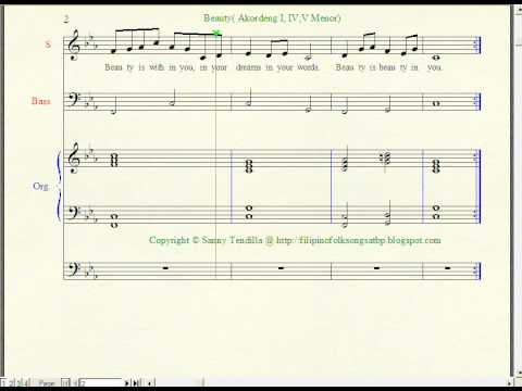 Beauty - Music Notation
