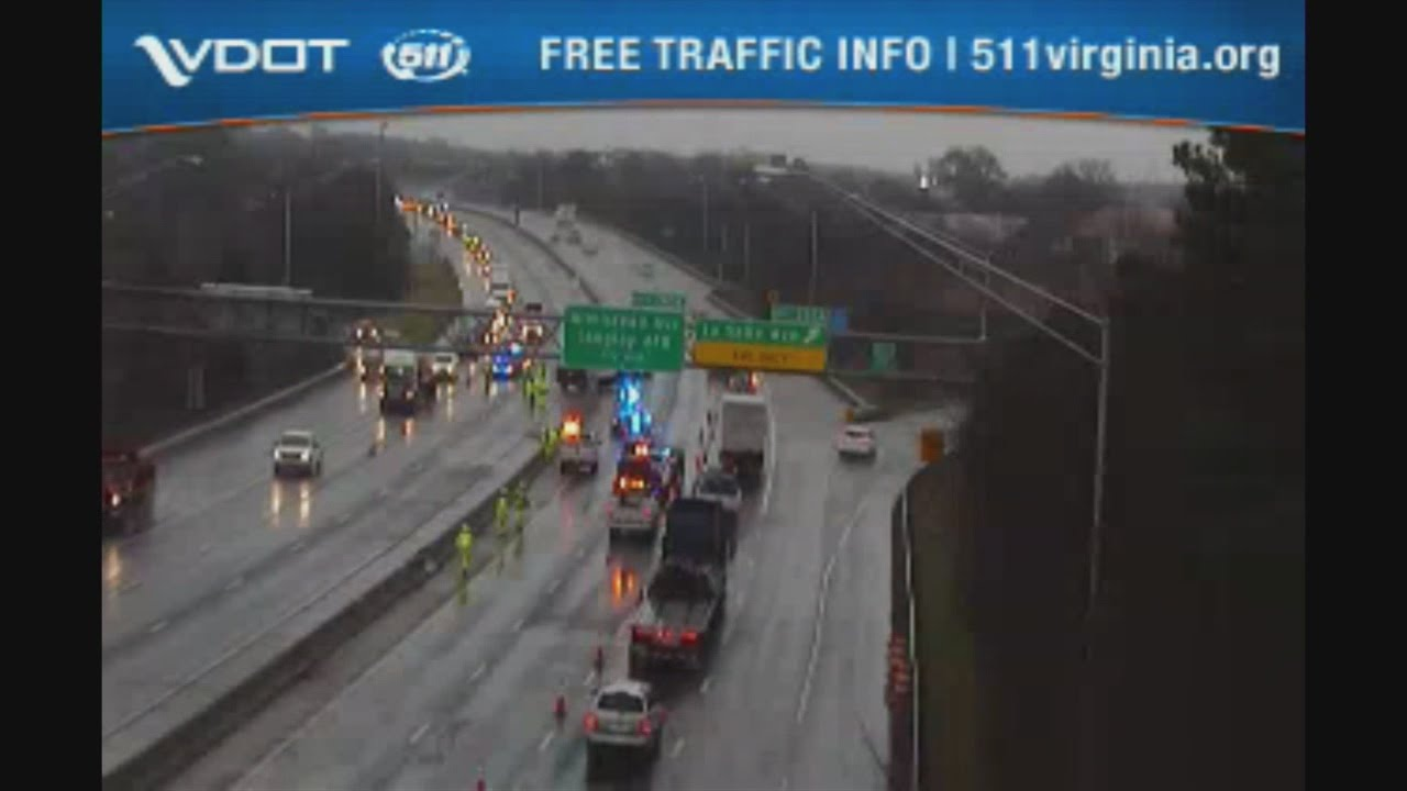 Armored truck crash on I-64 West in Hampton
