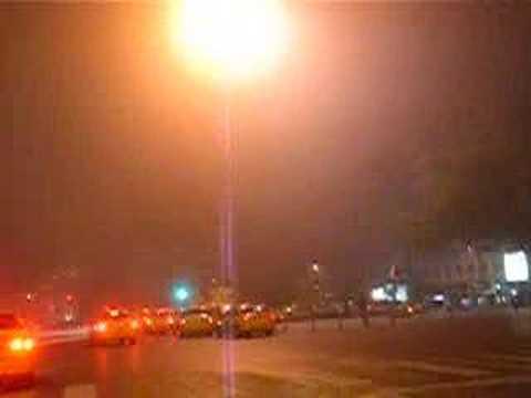 taksim square istanbul in a foggy night