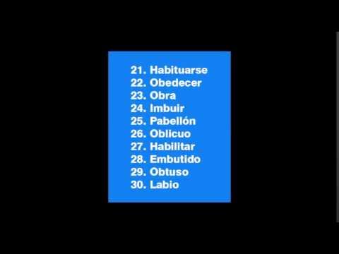 40 ejemplos de palabras con b intermedia youtube for La b b