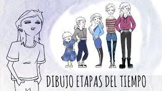 DIBUJO LAS ETAPAS DE MI VIDA | Draw my life stages | Alesya Crocodile