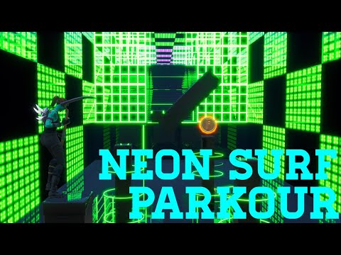 How To Complete Neon Surf Parkour By Hooshen (All Levels) | Fortnite Creative Guide