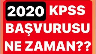 2020 KPSS BAŞVURUSU NE ZAMAN OLACAK?