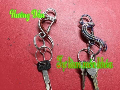 Hướng dẫn tự làm móc treo chìa khóa băng dây kẽm | NS Chanel