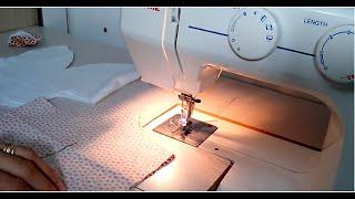 Touca/Gorro de orelhinha em tecido e soft – Costura – parte final