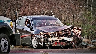 TRAILER: Car Crash in Woods, Driver Loses Legs