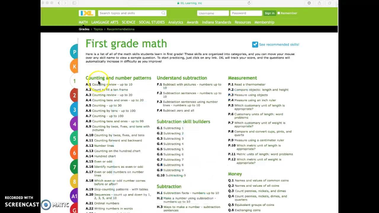 Nice Ixl First Grade Math Practice Illustration - Worksheet Math for ...