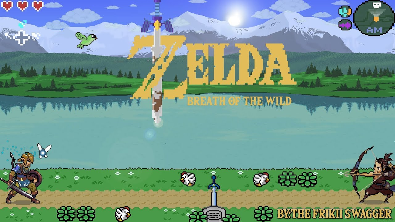 Mi Tercer Wallpaper Speed Pixel Art Dibujando Zelda Breath Of The Wild Estilo Frikii