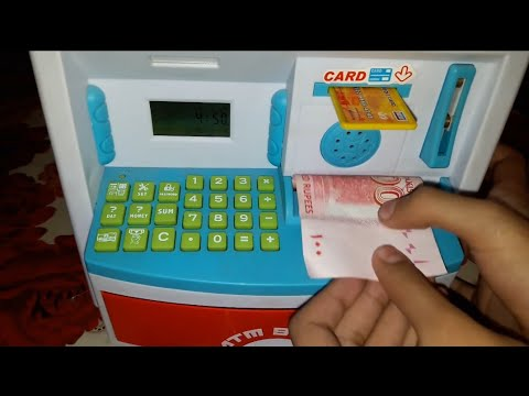 ATM TOY Machine and Coin Bank REVIEW❤