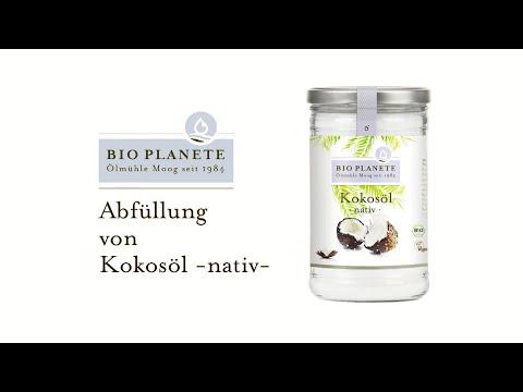 BIO PLANÈTE: Abfüllung von Bio-Kokosöl nativ