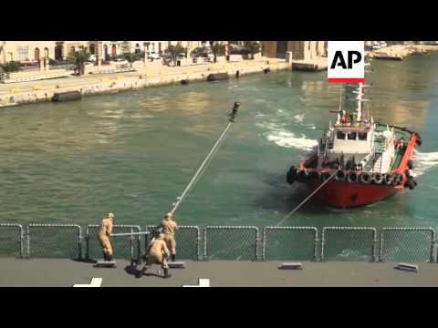 Malta - German ship joins migrant operations in Med | Editor's Pick | 30 Mar 16