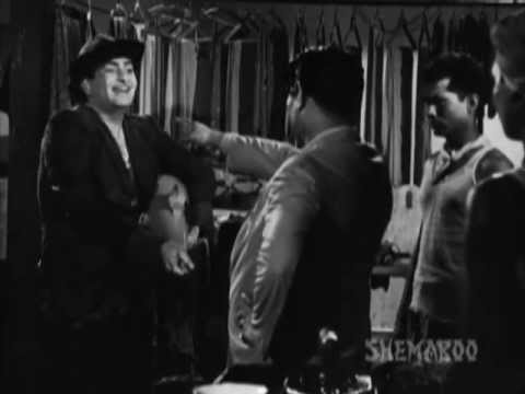 Shree 420 - Raj Kapoor - Nargis - Nadira - Raj Burns His Iron - Best Bollywood Comedy Scenes