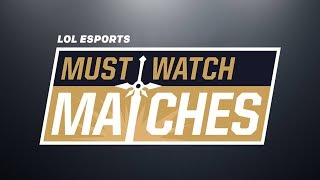 Must Watch Matches Spring 2018 Episode 5: AFS vs. KT - 100 vs. TL - G2 vs. FNC