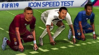 FASTEST ICONS IN FIFA 19 SPEED TEST (without ball)