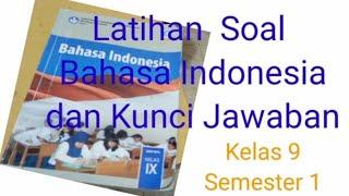 Soal Bahasa Indonesia Kelas 9 Dan Kunci Jawaban Semester Ganjil Teks Cerpen 2 Youtube