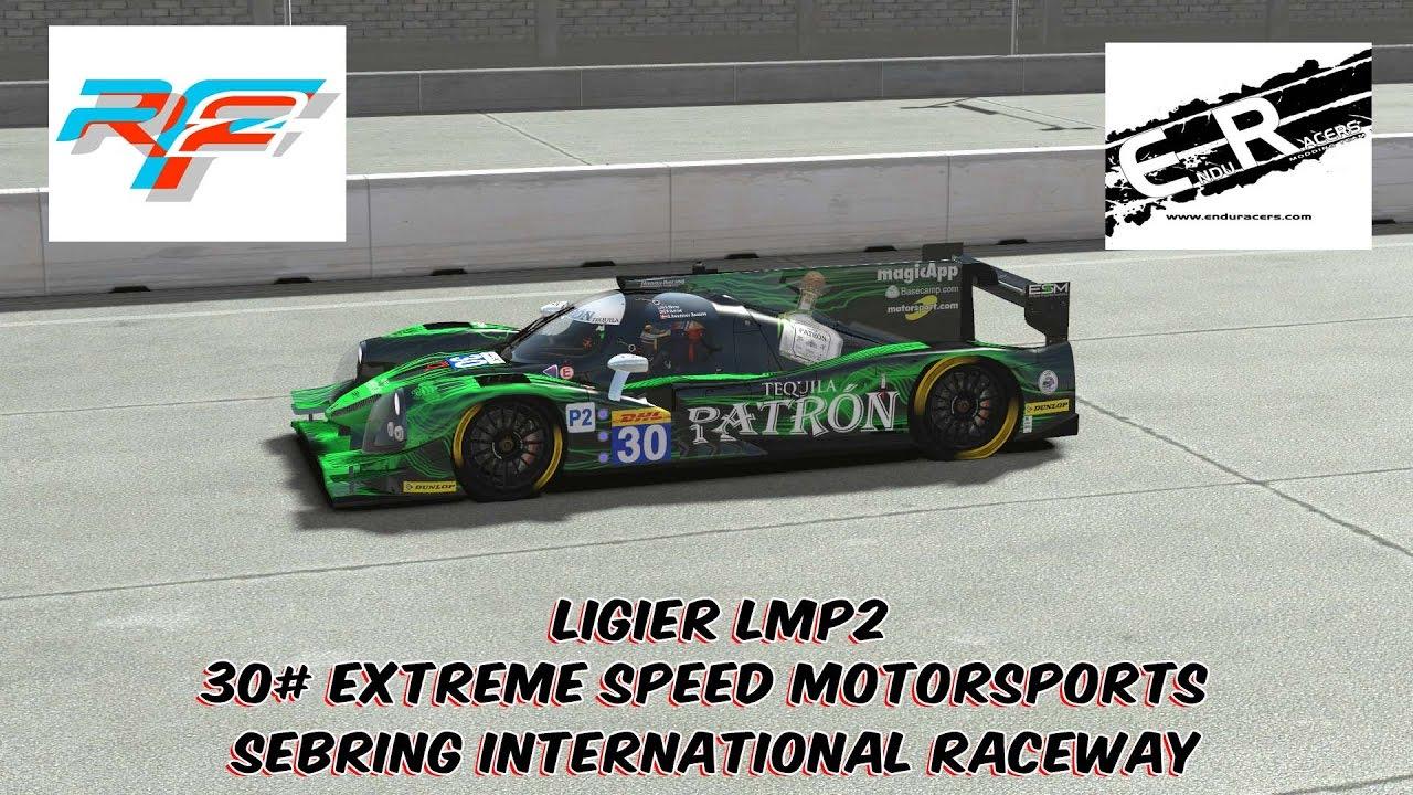rFactor 2: EnduRacers Mod @ Sebring - #30 ESM Ligier LMP2