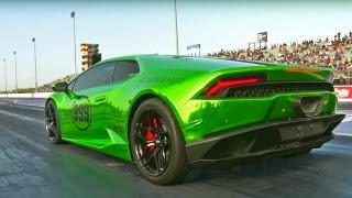 DRAG RACING a Turbo Lambo!?!?