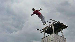 dominik sky insane backflip from a watchtower 7m 23 feet hd