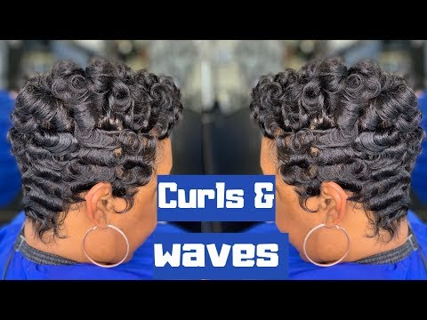 3D Waves, Curl Waves| How to curl short hair