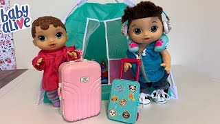Baby Alive Abby Packing her Suitcase For Camping 🏕 Trip