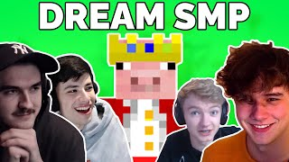 YouTubers react to Technoblade joining Dream SMP | Jschlatt, GeorgeNotFound, Wilbur, Tubbo...