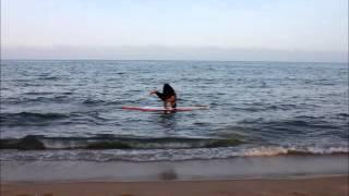 No Waves but enjoying my Manawa Paddle Surf
