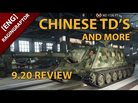 [ENG] World of Tanks: 9.20 TESTSERVER REVIEW, CHINESE TD'S AND MORE