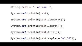 java - класс String, String методы isEmpty(), length(), trim(), replace()