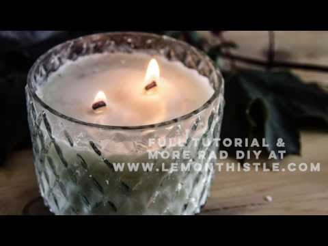 DIY Chai Candle with Wood Wick (in the microwave)