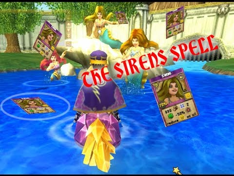 Sirens Spell Level 68 Storm Spell Quest Wizard101 Youtube