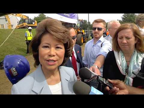 BBN interviews US Transportation Secretary Elaine Chaoi at Purple Line P3 #Infrastructure