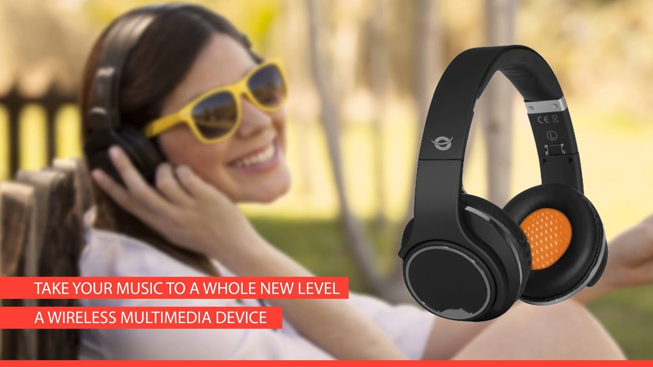 conceptronic wireless bluetooth headset youtube. Black Bedroom Furniture Sets. Home Design Ideas