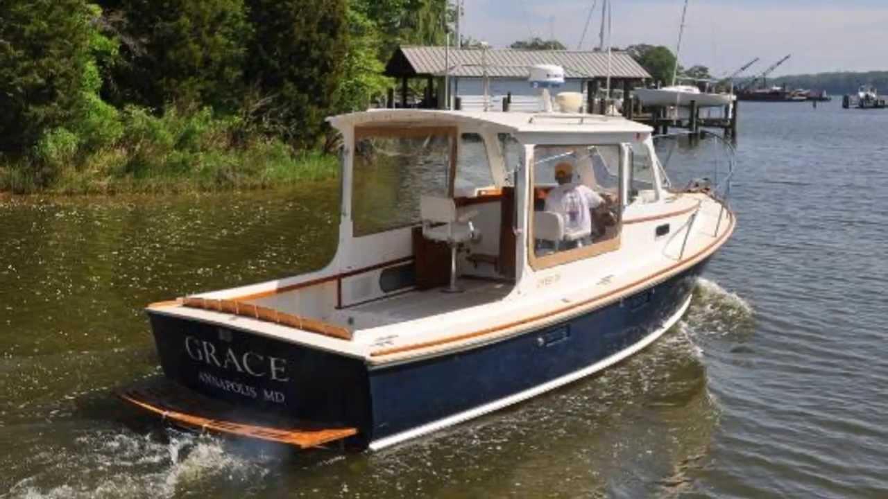 Grace - 29' 1999 Dyer Cruiser / Downeast Motor Boat - ( Walczak Yacht ) - YouTube