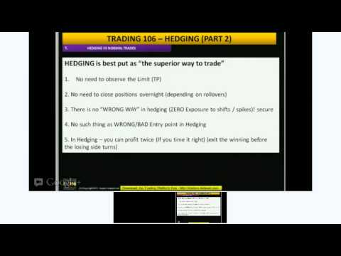 Learn to Trade - TRADING 106 - HEDGING (PART 2)