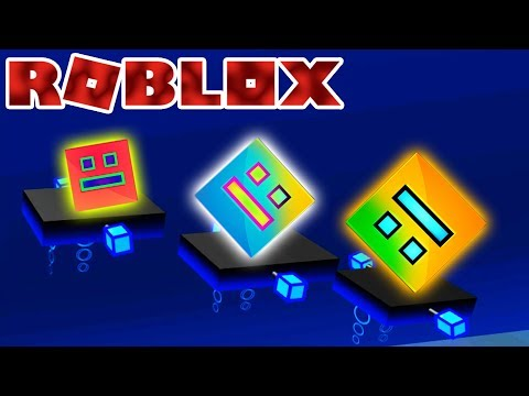 GEOMETRY DASH IS FUUUN :D | Let's Play Roblox Online Game Gameplay For Kids