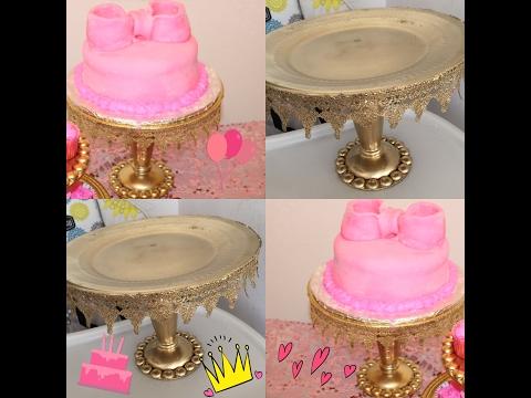 DIY  dollar tree wedding Cake Stand