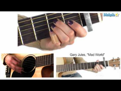 How to Play Mad World by Gary Jules on Guitar