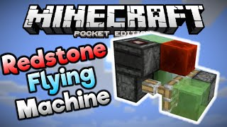 REDSTONE FLYING MACHINE in MCPE! - Simple Redstone Build - Minecraft PE (Pocket Edition)