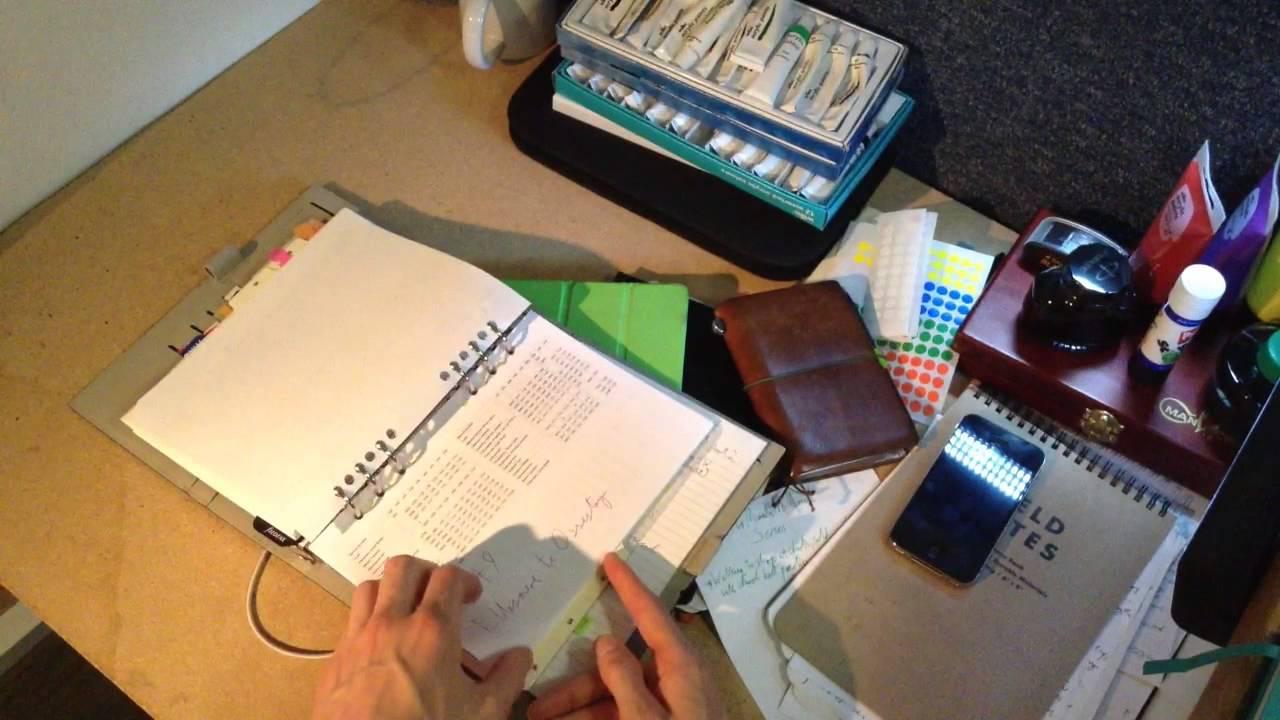 Life in a Filofax, Brain Dumps and Notebooks