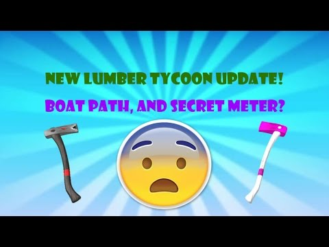 NEW LUMBER TYCOON 2 UPDATE! BOAT PATH AND MORE! Ft. IntelPlayz