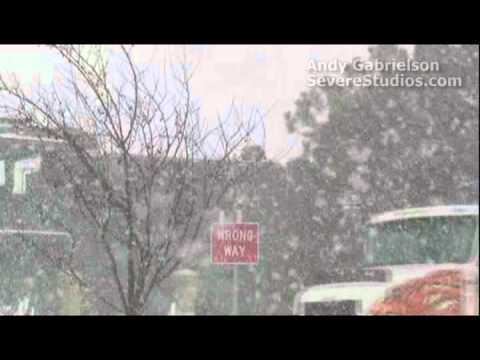 Major snow storm hits Dodge City, Kansas!
