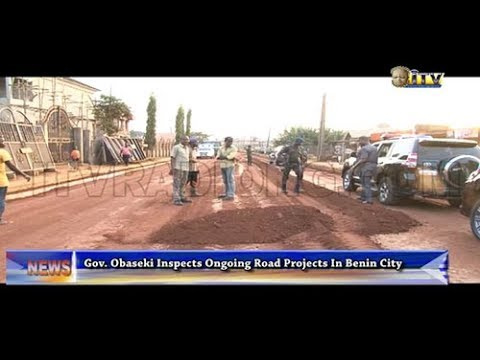 Gov. Obaseki inspects ongoing road projects in Benin