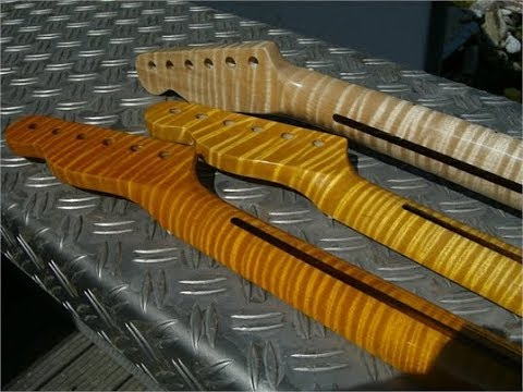 Roasted Maple Necks For Tele And Strat Flamed Maple Pearlvibe Abalone